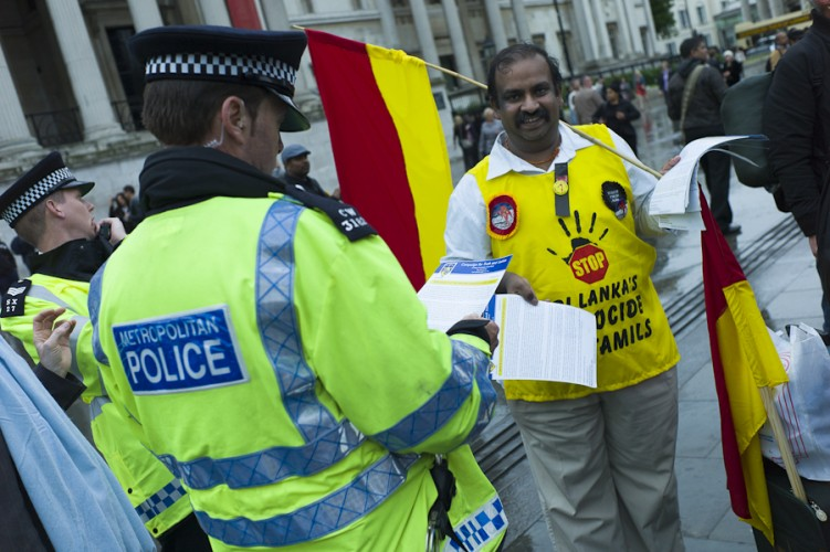 Tamil Demonstration photo © Rena Pearl