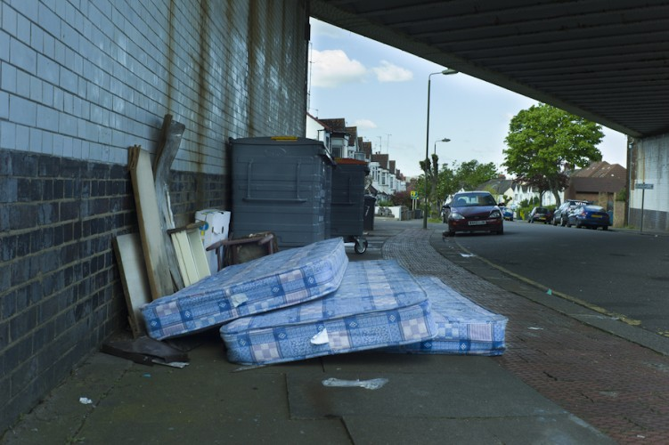 Flytipping Brent Cross Photo © Rena Pearl
