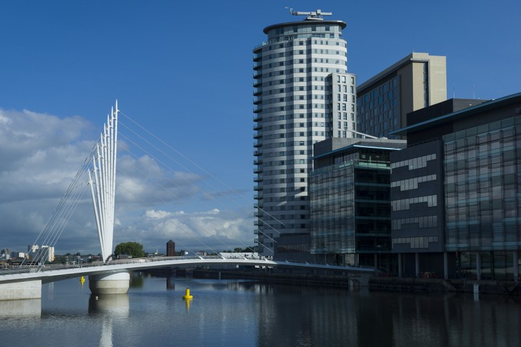 Media City Footbridge, Salford Quays,  Manchester