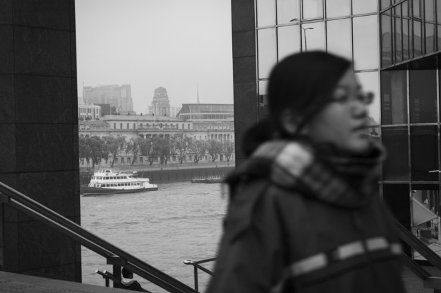 A misty day in London town