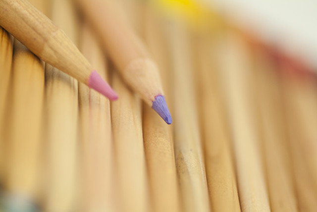 Marcro photograph of pencils
