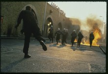 Metropolitan Police riot training Hendon, London
