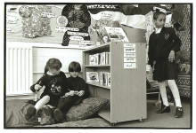 London 1994. Multi ethnic school library