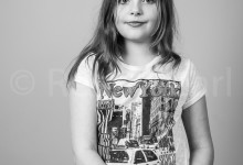 Black and White portrait of Lizzie